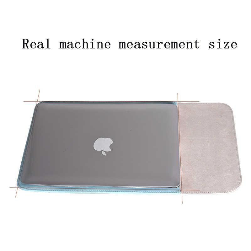 Сумка для ноутбука из искусственной кожи для Macbook Air Pro retina 11 12 13 Mac book 15 touch bar 2018 чехол для Xiaomi 15,6 для женщин и мужчин