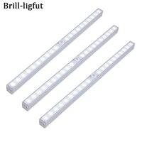 Беспроводной PIR датчик движения 20 светодиодный светильник под шкаф ночник для шкафа кухни спальни гардероба для домашних лестниц настенные...