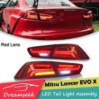 Светодиодный сзади задний блок освещения для Mitsubishi Lancer EVO X 2008 2009 2010 2011 2012 2013 2014 2015 2016 2017 тормозной фонарь