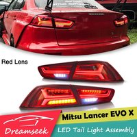LED Rear Tail Light Assembly For Mitsubishi Lancer EVO X 2008 2009 2010 2011 2012 2013 2014 2015 2016 2017 Brake Lamp