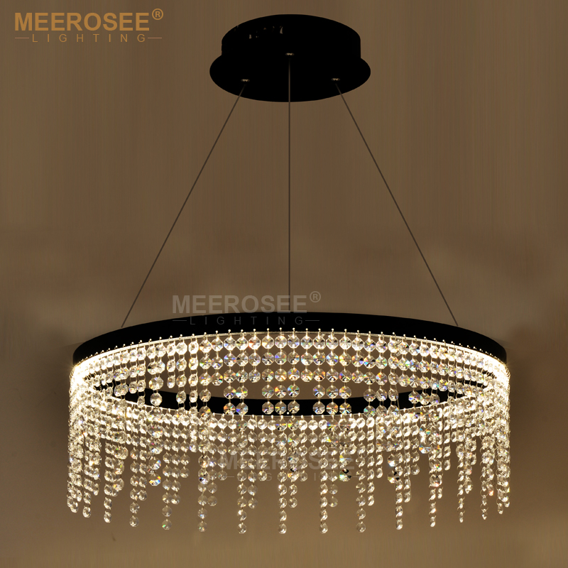 New Design LED Ring Chandelier Light Crystal Lamp LED Hanging Drop Lamp For Dining Room LED lamparas Crystal Lighting For Home modern crystal chandelier hanging lighting birdcage chandeliers light for living room bedroom dining room restaurant decoration