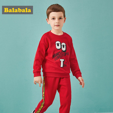 Balabala/комплект детской одежды на осень; осенняя одежда для мальчиков с буквенным принтом; модная осенняя одежда для малышей