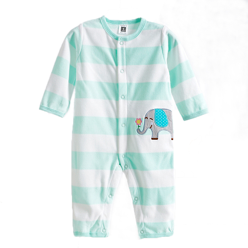 0-12M Baby Boy Rompers Baby Boy Clothes Clothing Boy Overalls Long Sleeves Long Pants O-Neck Fleece Dog Bear Duck MKBCROBY001