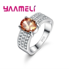 YAAMELI Fashion Crystal CZ Stone Wedding font b Engagement b font font b Rings b font