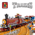 Sistema del bloque compatible con lego pasatiempos educativo tren 234 3d de construcción de ladrillo juguetes para los niños