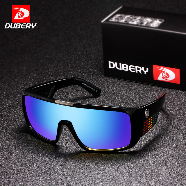 72ce17f6f1 DUBERY Sunglasses Men s Retro Male Goggle Colorful Sun Glasses For Men  Fashion Brand Luxury Mirror Shades