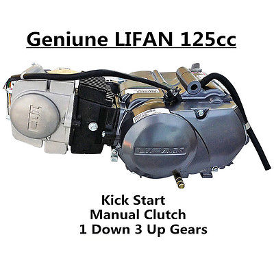 125CC LIFAN ENGINE KIT MOTOR MANUAL CLUTCH DIRT/PITBIKE/MOTORBIKE 1 DOWN 3 UP