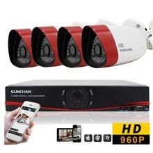 SUNCHAN New HD CMOS 1500TVL Outdoor Camera 4CH 720P AHD DVR CCTV Video Surveillance System 1080P DVR Kits 3G/4G APP Remote View