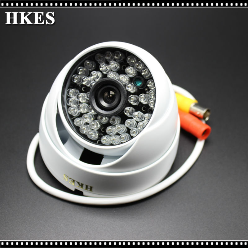 HKES New 720P Mini Camera Wired CCTV Camera HD Outdoor Indoor IR CUT Night Vision CMOS Security AHD Camera hd 1mp ahd security cctv camera 720p indoor dome ir cut 48leds night vision ir color 1080p lens