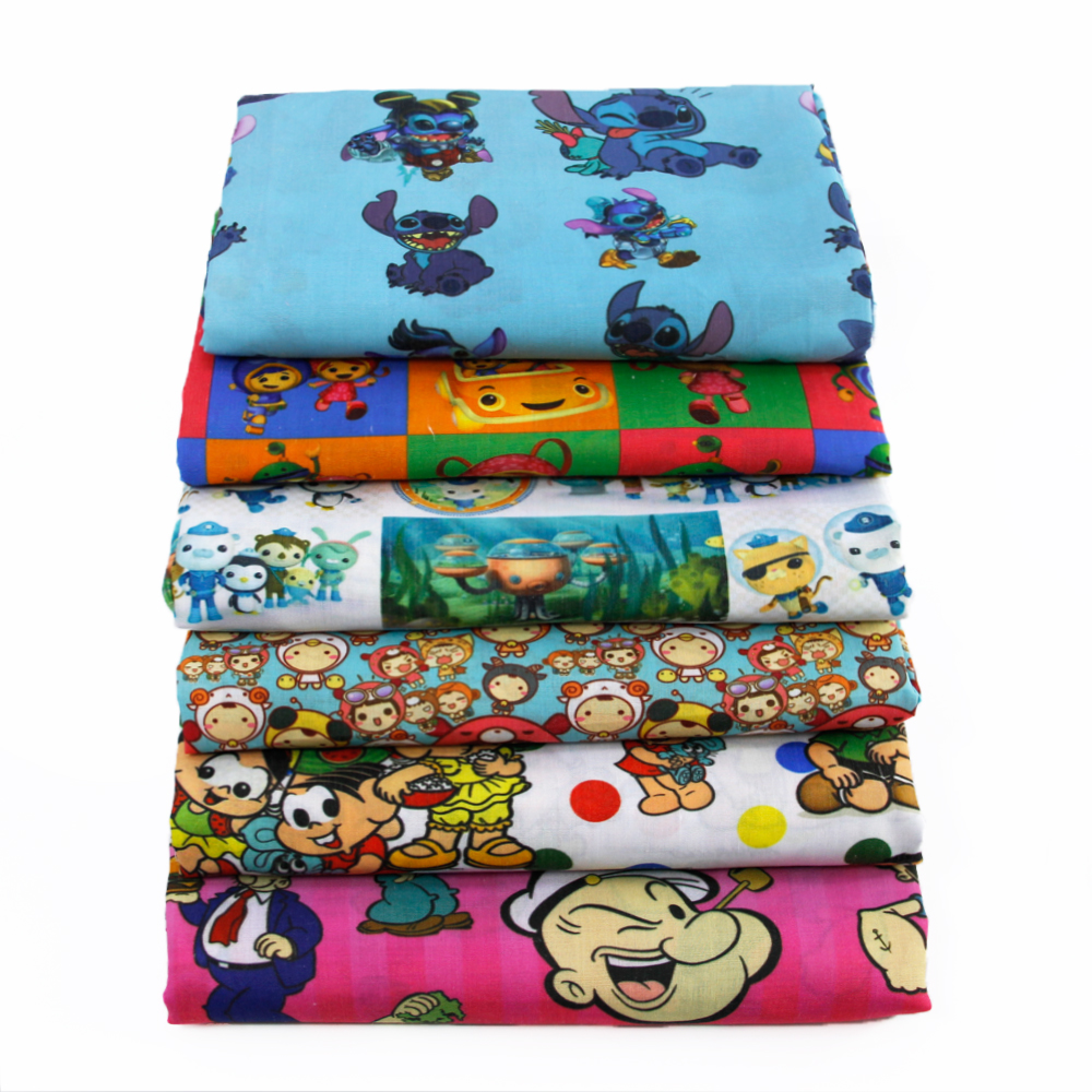 50 145cm patchwork printed cartoon boys polyester cotton for Boys cotton fabric