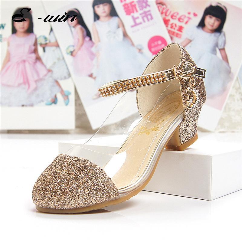 2016 Children Princess Sandals Kids Girls Wedding Shoes