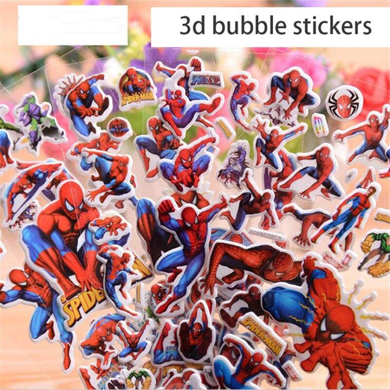 wholesale 10pcs/lot 3D Cartoon Bubble Stickers The Avengers Spiderman Stickers Kids Educational Toys for Boys Children Giftwholesale 10pcs/lot 3D Cartoon Bubble Stickers The Avengers Spiderman Stickers Kids Educational Toys for Boys Children Gift