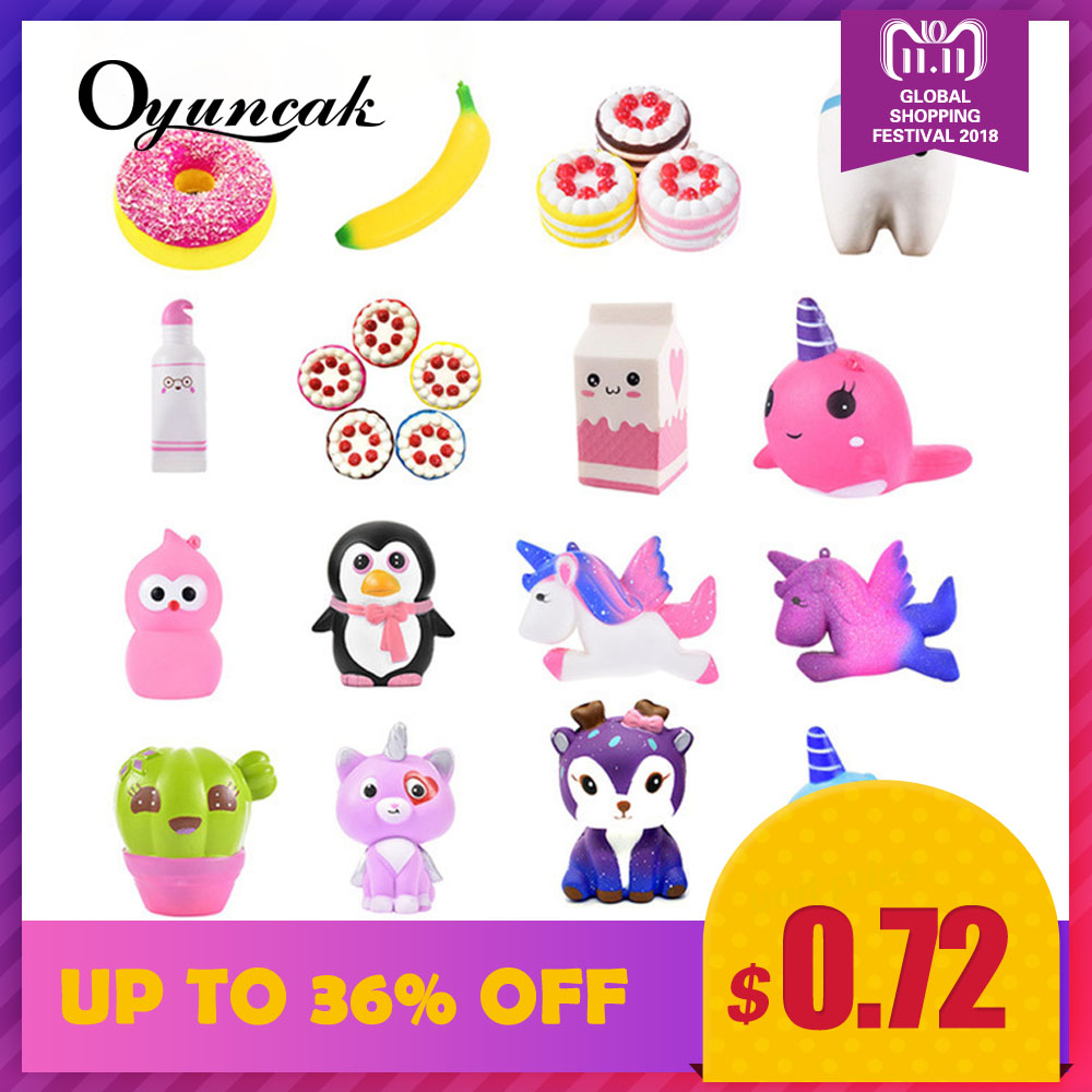 Oyuncak Squishy Novelty Gag Toys Jumbo Fun Squish Antistress Surprise Stress Relief Toys For Children Cute Squeeze Slow Rising oyuncak squishy unicorn novelty gag toys surprise antistress fun squeeze unicorn squish kawaii anti stress jumbo funny gadgets