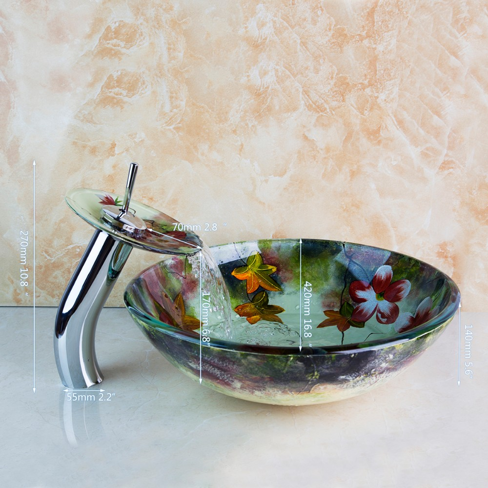 Luxury Style Tempered Glass Basin Bowl