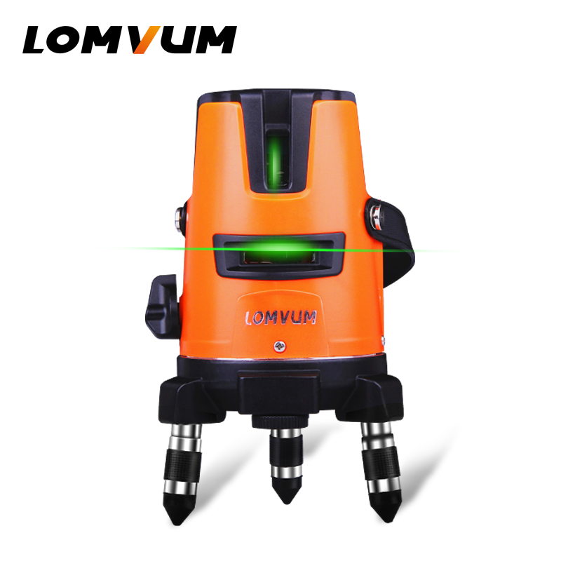 LOMVUM 2Lines 2points Laser Level Self-Leveling 360 Horizontal Vertical Cross Super Powerful Green Beam Line slash functional a8827d 360 degree self leveling 3 lines 3 points rotary horizontal vertical red laser levels cross laser line laser highlights