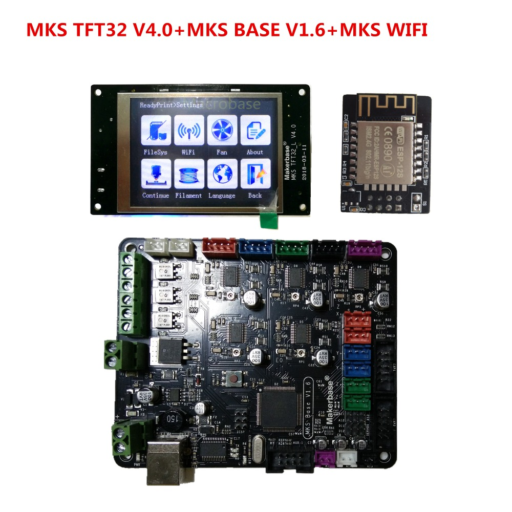 MKS BASE v1.6 + MKS TFT32 V4.0 touch screen all in one controller 3d printer starter kit imprimante Reprap TFT 32 control panel 3d printer kit motherboard mks base mks tft32 touch screen all in one controller starter kits imprimante reprap control panel