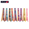SALUTTO High Quality Chiffon Extra Long100X4cm Lepord Twilly Ladies Scarf Small Bag Bandeau Tie Multifunction