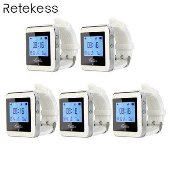 5 шт. Retekess 433 МГц 999 канал часы пейджер-приемник вызова официанта пейджер Беспроводная система вызова оборудование для ресторана F3288B