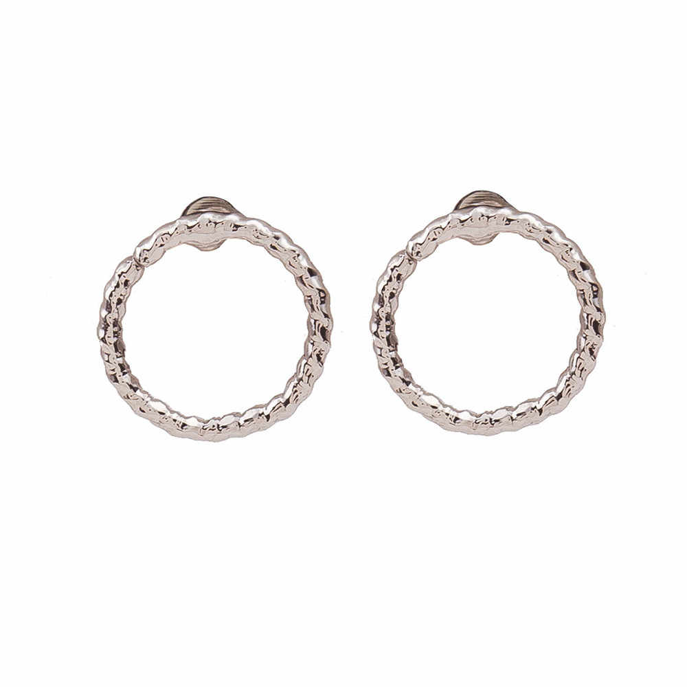 Simple style earrings for women Fashion Twist Circle Earrings Geometric Circle Earring Stud aretes de mujer#yl