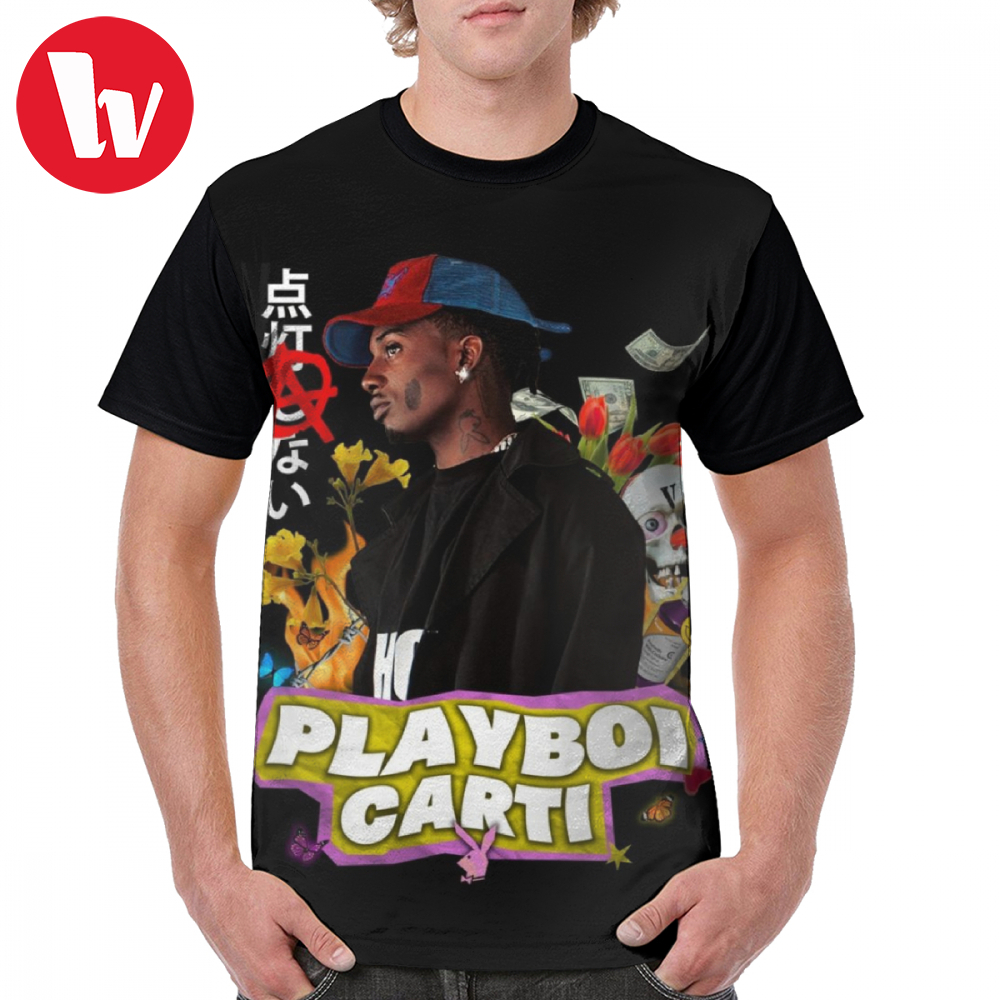Playboi Carti T Shirt T-Shirt Oversized Print Graphic Tee Mens Short Sleeves Streetwear Fun Polyester Tshirt