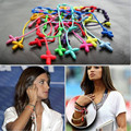 ABL0277(120), 18 Colors Rosary Religious Bracelet Hand Made Rope Knotted Friendship Bracelets Pulseras Decenarios With Cross