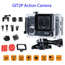 GitUp 2P 1.5inch LCD Display 2K 16MP Motion Sprint Digital camera HD 1080P 90diploma WIFI HDMI Waterproof Transportable For Out of doors Driving Climbing