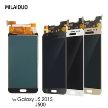 LCD Display For Samsung Galaxy J5 2015 J500 SM-J500FN J500F J500FN J500M J500H J500Y Touch Screen Digitizer Adjustable Bright touch digitizer lcd display assembly gold for samsung galaxy j5 j500 j500f j500y j500m