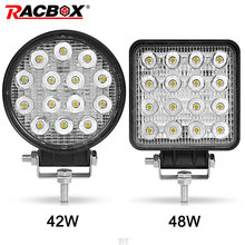 4 inch 42W 48W LED Work Light Offroad Car 4WD Truck Tractor Boat Trailer 4x4 ATV SUV 12 24V Spot Flood 4.2 LED Driving Light