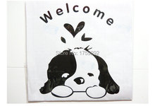 Free Shipping Lovely Dog Toilet Sticker Home Decal Mural Art Decor Funny House Decor Stickers Bathroom Decorations