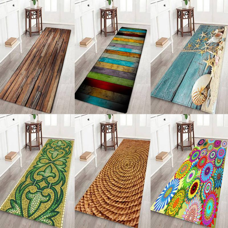 Thickening  Non-Slip Small Carpet 3D Printed Flannel Rug Soft Water Absorption Mat For Kitchen Bathroom Home Rug Supplies