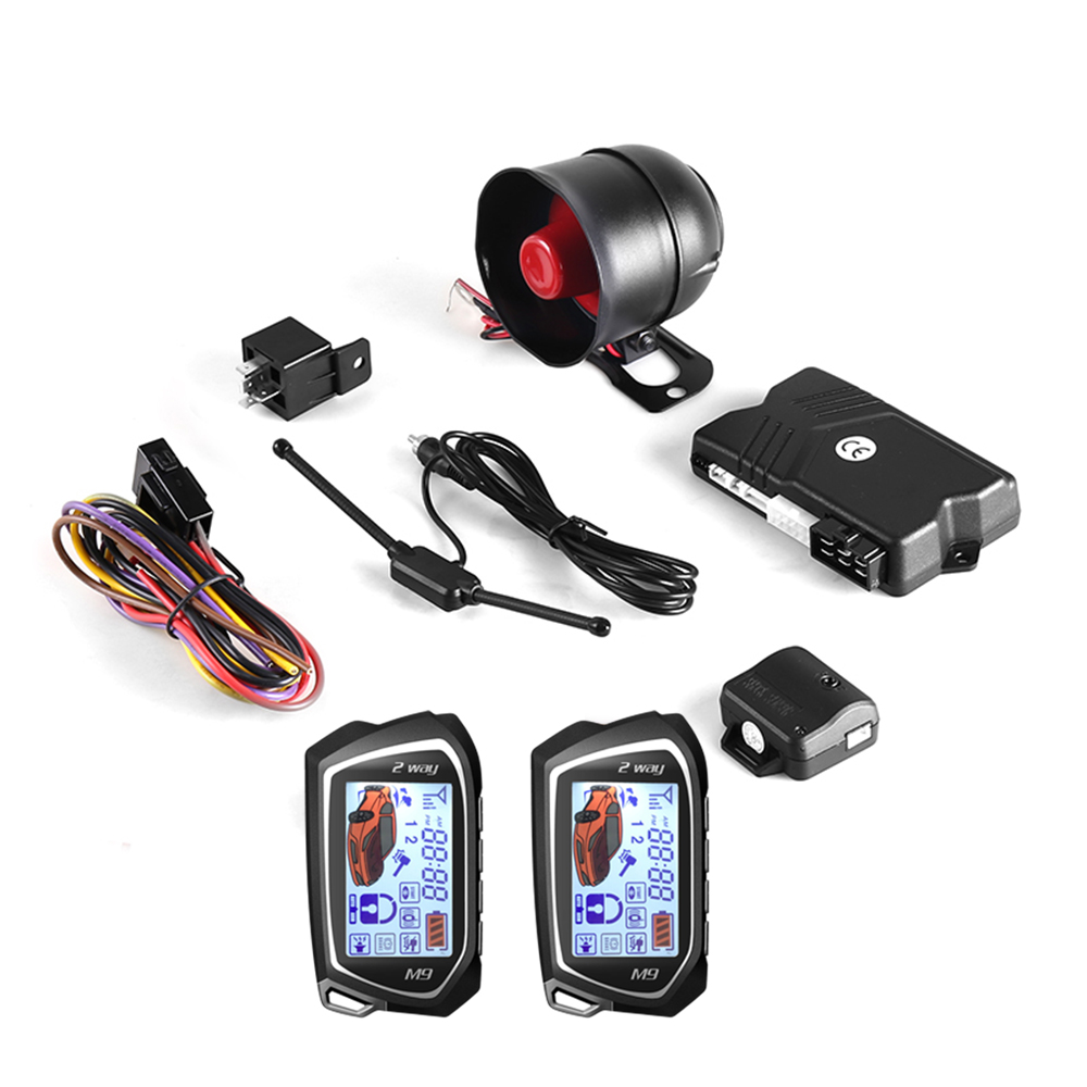 BANVIE SPY Two 2 Way LCD Car Alarm Security System with Keyless Entry Central door Locking anti thief starline