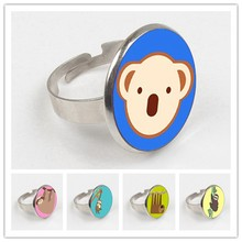 GDRGYB 2019 Newest Lovely Cartoon Sloth ring Bright Solid Color Kawaii Slow Motion Sloth Ring Bag Holder Gif(China)