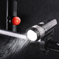Cycling Lights Mountain Bicycle USB Charging Headlight Taillight Warning Light Set Flashing Light LED For Safety