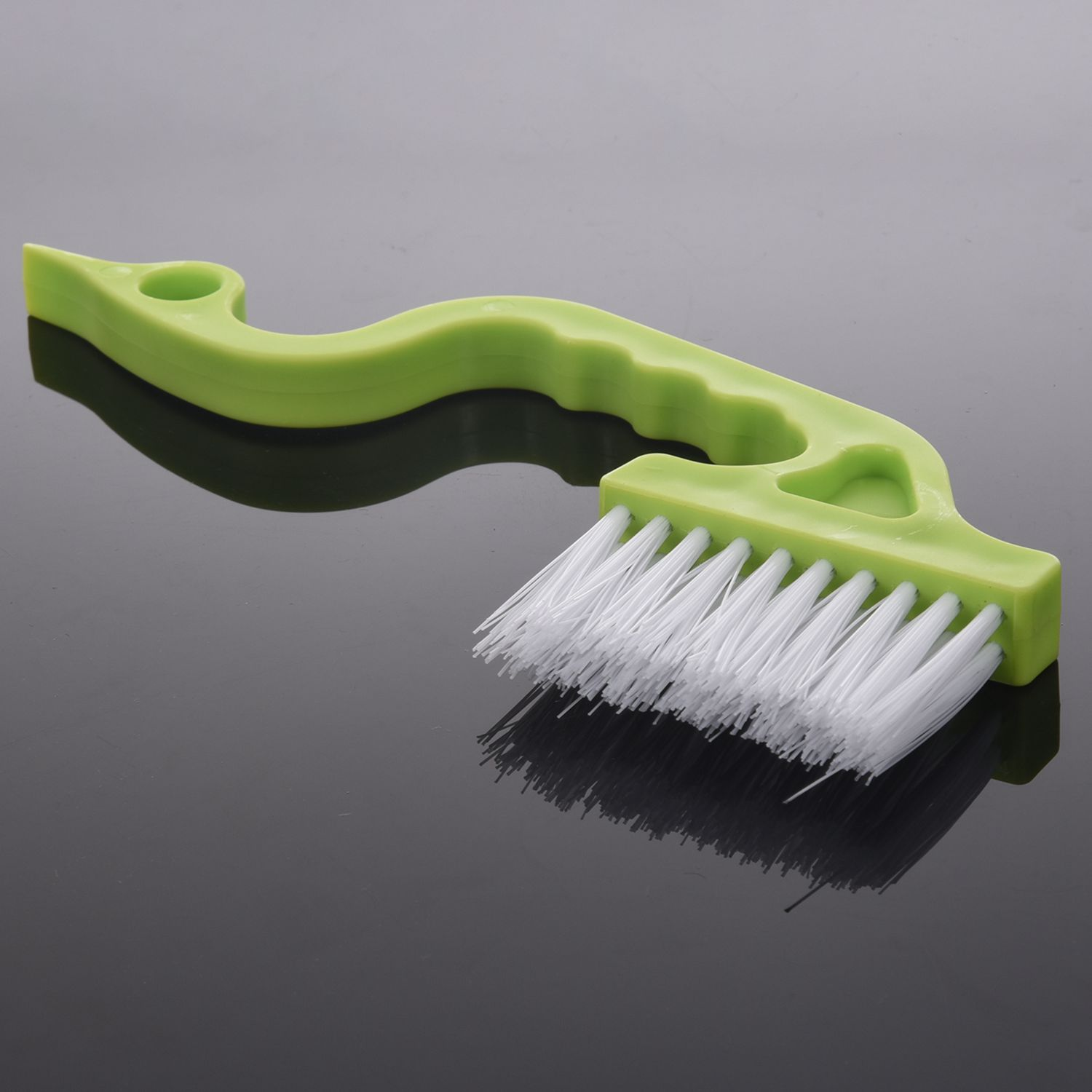 HOT-1pcs Brush Air Louvers Brush Tube Hand-held Slit Trench Doors Cleaning,green