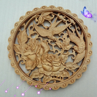 Wood Carving Handicrafts Camphor Wood Carving Animals And Flowers Chinese Interior And Exterior Decoration Supplies
