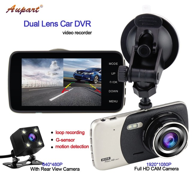 DVR rear view camera car DVRS Registrar 4'' camara automovil G-sensor video recorder HD Car cam dashcam auto for Coche in dash