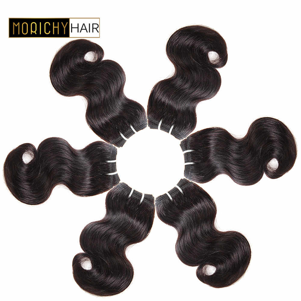 MORICHY 50g/pcs Body Wave Human Hair Bundles Non Remy Brazilian Hair Natural Color 8inch Weave Human Hair Extension
