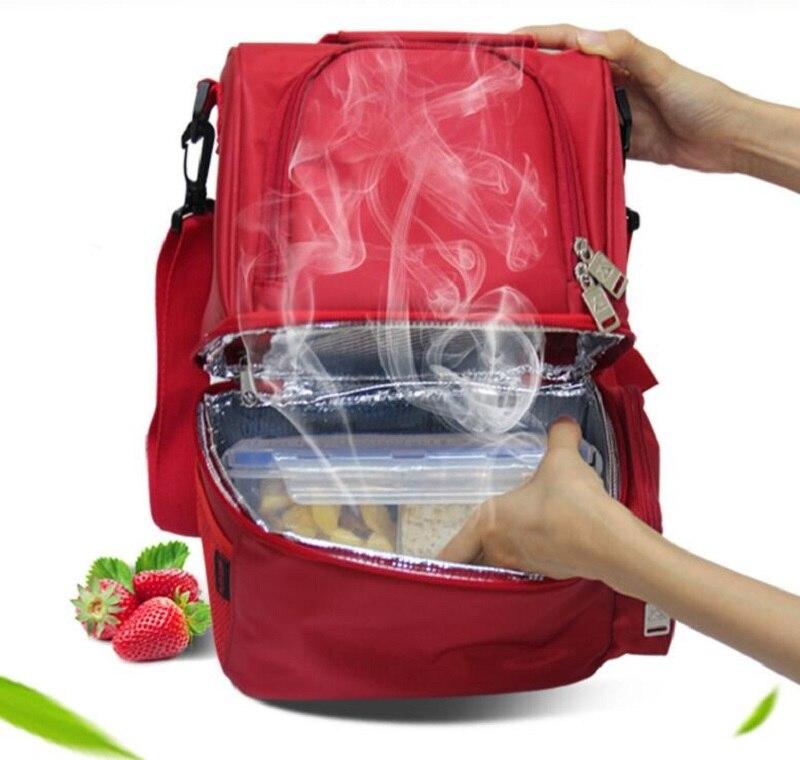 usb multi funcao de aquecimento 12l piquenique sacos cesta almoco portatil isolamento mochila gelo lancheira pacote