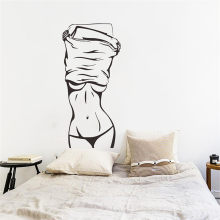 Sexy Girl Vinyl Wall Decal Sticker Fashion Sexy Woman Mural Wall Sticker Clothes Store Beauty Salon Bedroom Room Decor Murals(China)