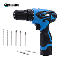 Lanxstar 16.8v Cordless Drill Double Speed Adjustment Knob Power Tool Rechargeable Lithium Battery Multi-function Drill