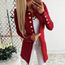 High quality fashion blazer womens outerwear long sleeve single-breasted versatile slim small