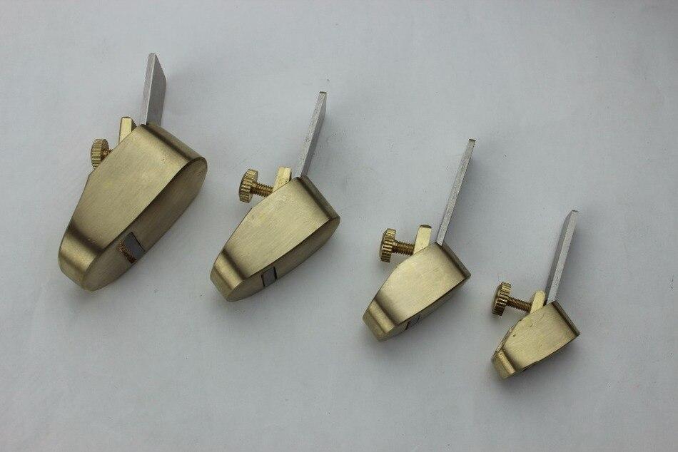 Hot sale 4 pcs various size Mini plane Copper Metal violin woodworking tools