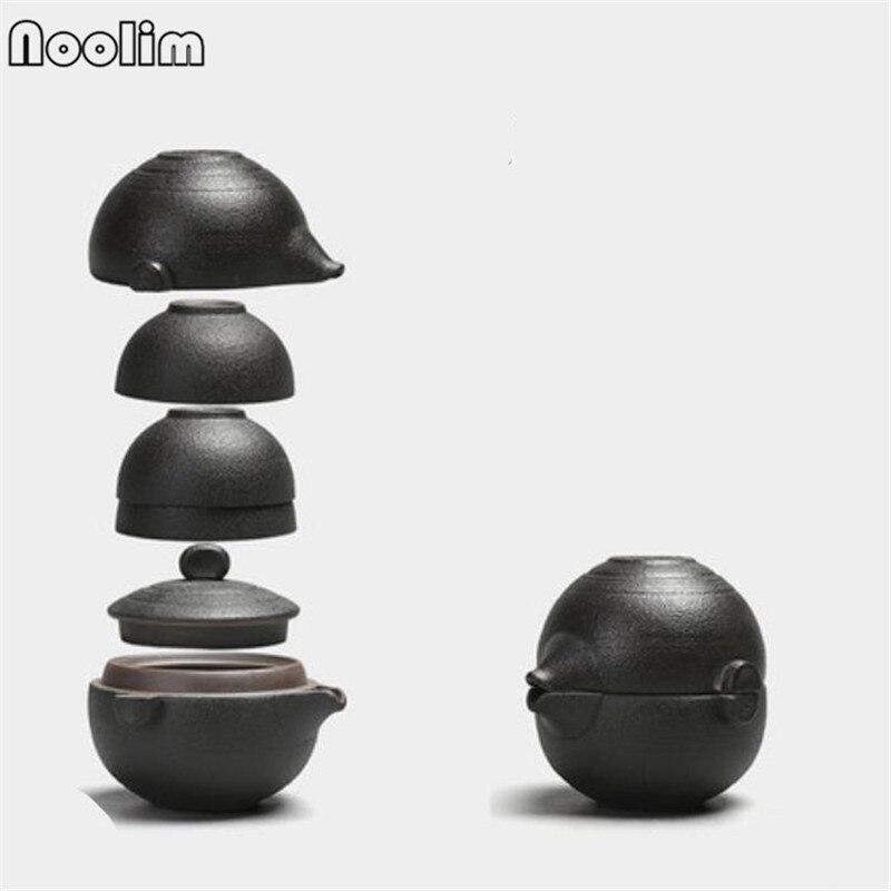 Ceramic Teaware Set Stoneware Portable Travel Tea Set Teapot Teacups Chinese Kong Fu Tea Set Handmade Teaware Accessories