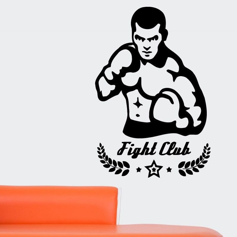 DCTAL Boxing Sticker Kick Boxing Decal Free Combat Posters Vinyl Striker Wall Decals Parede Decor Mural Boxing Sticker