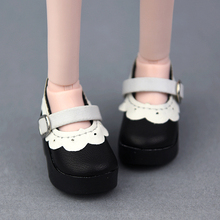 1Pair 6.3cm Lace Design PU Leather Shoes For 1/4 BJD SD Doll Shoes As for 45cm Xinyi Doll Shoes Doll Accessories for Girl Gift 1 3 bjd clothes bjd lace underwear sets bra doll clothes dod as dz sd doll accessories