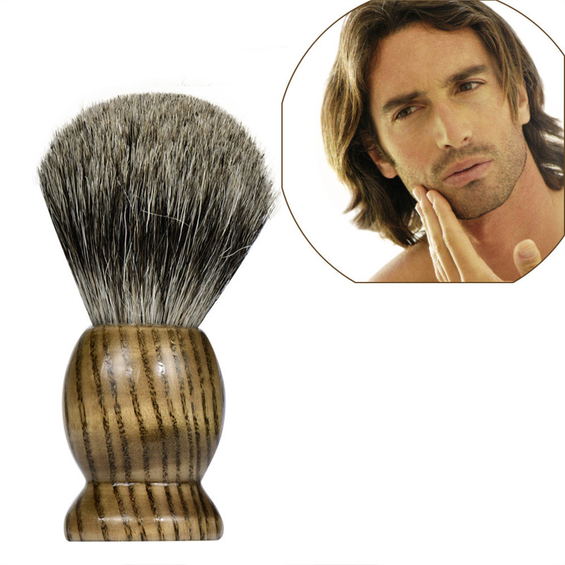 2019 new Shaving Brush Pure Badger Hair Shaving Brush Wood Handle Best Shave Barber Shaving Tool Wholesale & Drop Shipping