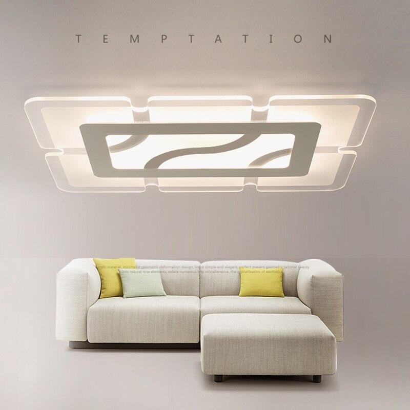 Moderne salon led plafonniers affleurant montage luminaire chambre acrylique plafonnier lampara de techo plafoniere moderne