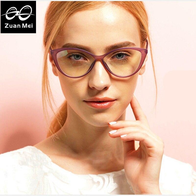 Zuan mei gato marco de los vidrios mujeres tr marco moda gafas ...