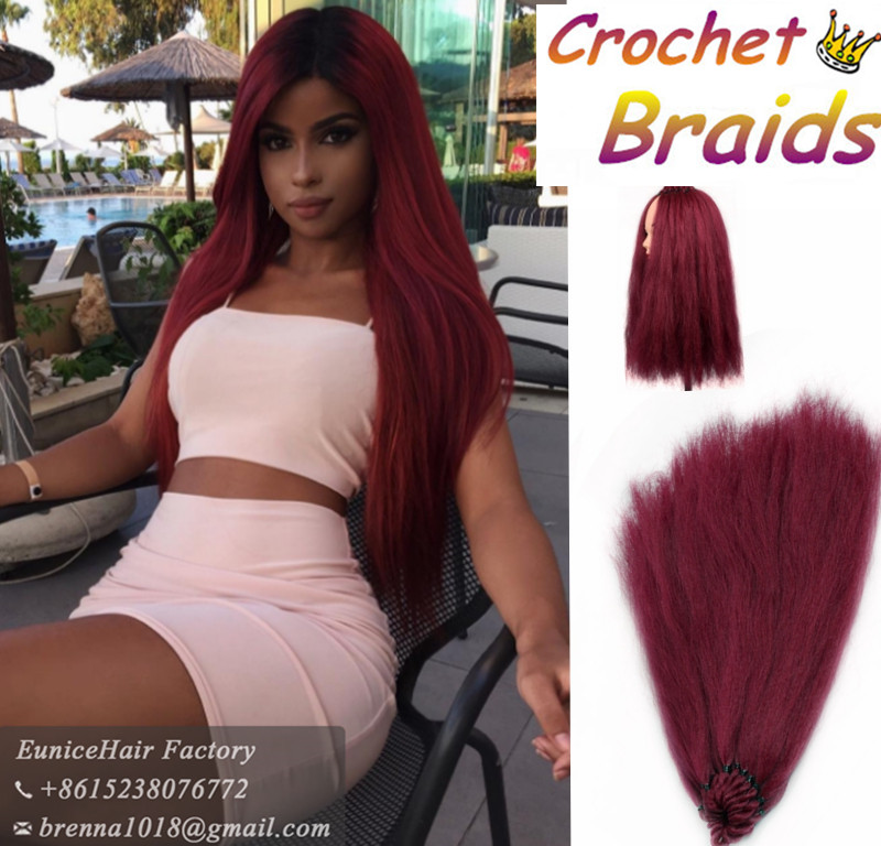 perfect human feeling straight hair yaki straight crochet