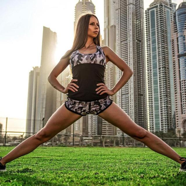 JECKSION clothes clothes Fitness clothesLow-Waist Shorts Breathable Short